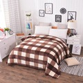 Cheap 200X230CM home textile Coral Fleece blanket on the bed soft plaid blanket warm winter sofa travel blanket plaid bedspread