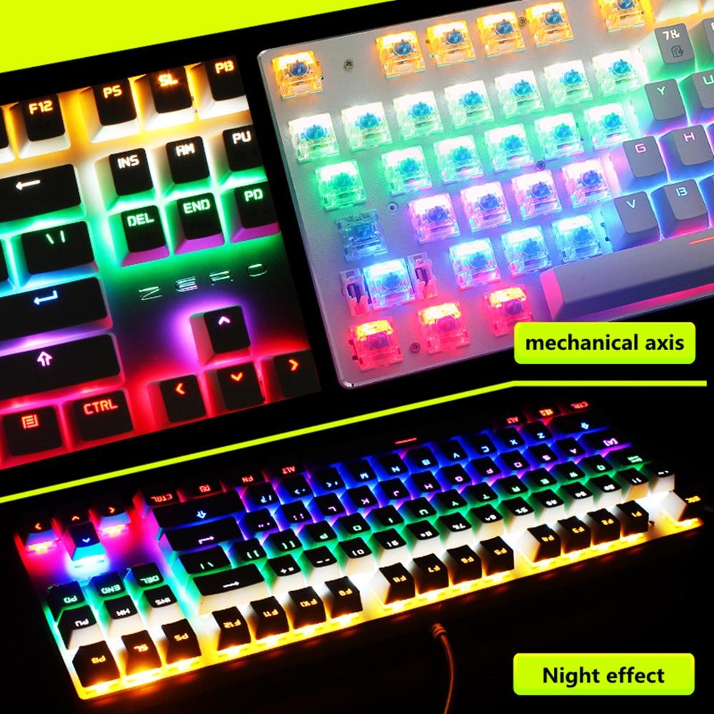 ZERO mehaaniline klaviatuur 87/104 Hämarikuvastane sinine punane - Arvuti välisseadmed - Foto 5