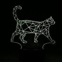 3D Walking Cat Home Decor Lamp
