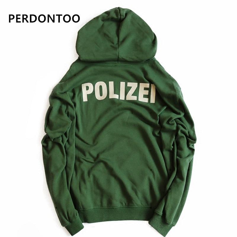 Payız şalvar böyük ölçülü Yaşıl Polizei məktubları olan - Kişi geyimi - Fotoqrafiya 6