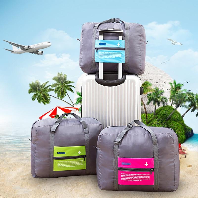کیف دستی تاشو WaterProof نایلون کیف مسافرتی چمدان Unisex مسافرتی با ظرفیت بزرگ چمدان های تاشو