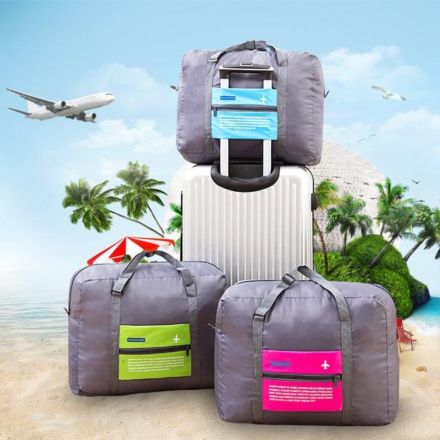 Foldable WaterProof Nylon Travel Bag Unisex Luggage Travel Duffle Large Capacity Bag Women Folding Handbags