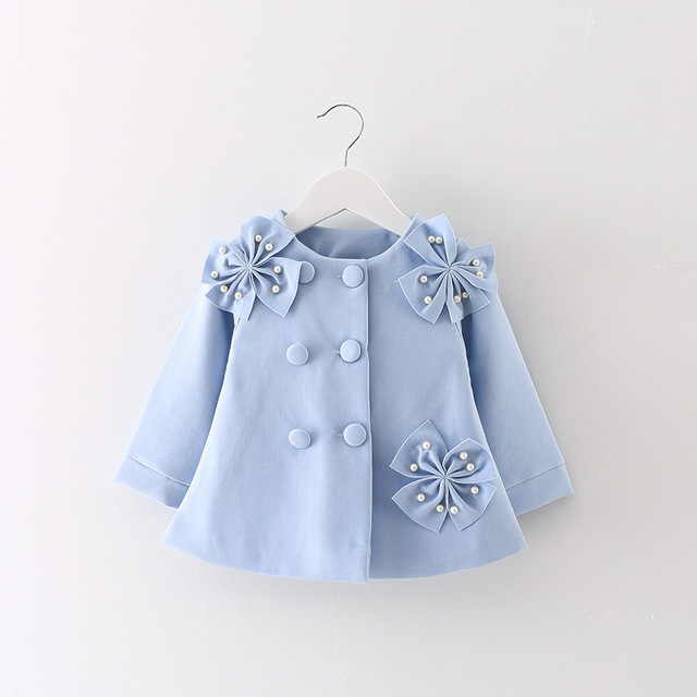 65f60157438a Baby girl spring coat manteau printemps fille beading big bowknot ...