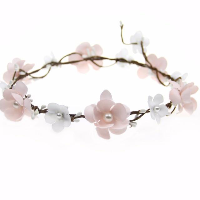 Pink Rose Flower Crowns Wedding Bridal Flower Girls Hair Flowers