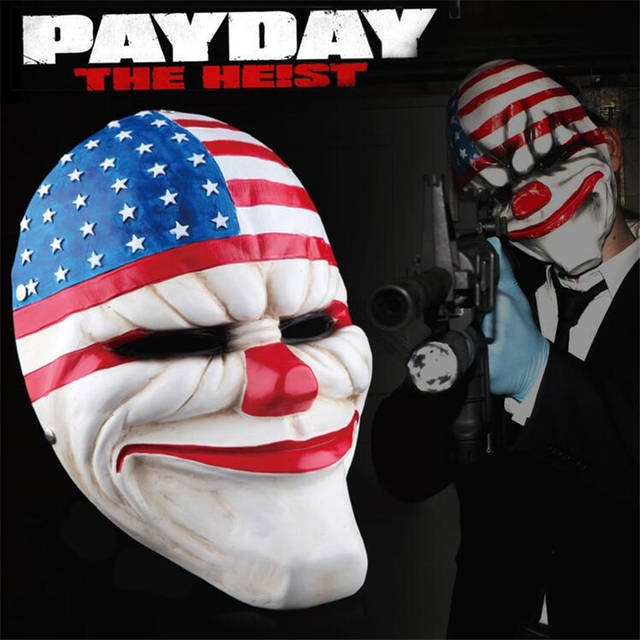 US $28 9 25% OFF|High Quality Game PAYDAY 2 Dallas Wolf Chains Houston  Faction Resin Mask Cosplay Halloween Party Props-in Boys Costume  Accessories