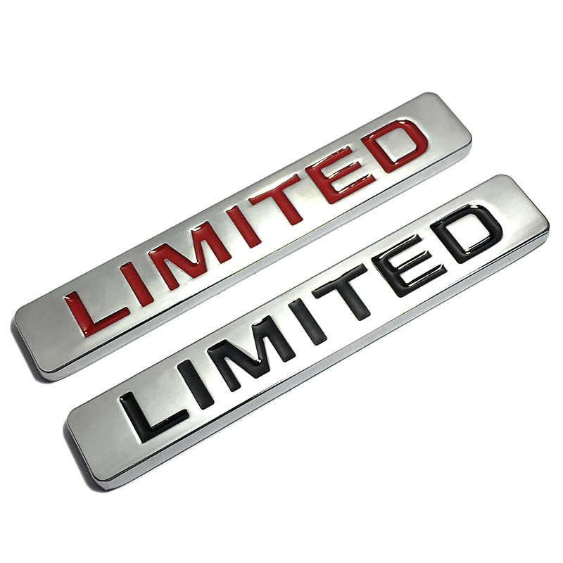 3D Red Limited Edition Auto Car Badge Creative Decal Motorcycle Stickers Emblem