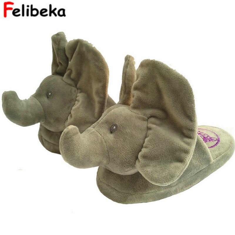 Neue Peekaboo Elefanten Slipper Spielzeug & Stofftiere Elefanten Hause Pantoffel Das Beste Geschenk Für Ihre Geliebten Person