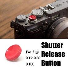 Copper Concave Surface Camera Soft Shutter Release Button For Fuji XT2