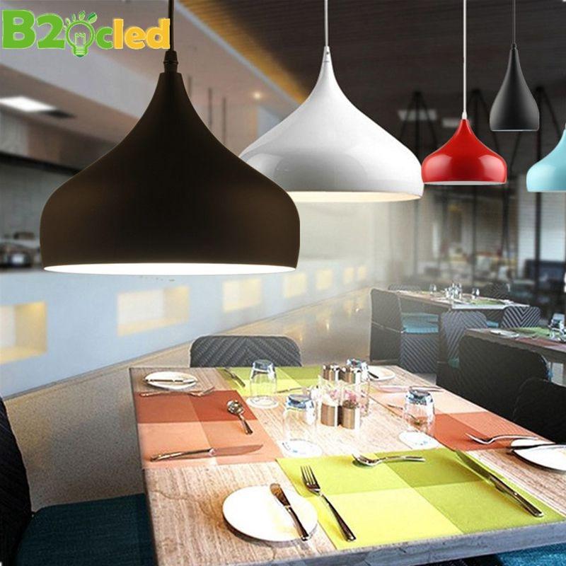 Moderne Pendelleuchten Zwei Einfache Formen Verschiedene Farben Lampen Restaurants Schlafzimmer Cafes Wohnzimmer Beleuchtung E27 Halter In