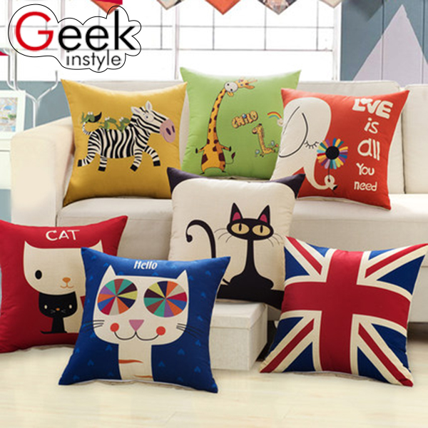 Cartoon pillow Lovely pillow A variety of styles and