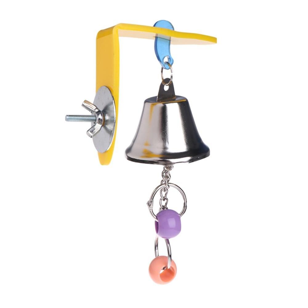 Колокольчик для попугая игрушки птицы жевательные Подвесные качели для клетки игрушки Аксессуары для укуса Попугайчик бусины Cockatiel игрушки для домашних животных товары для птиц C42 - Цвет: As pictures shown
