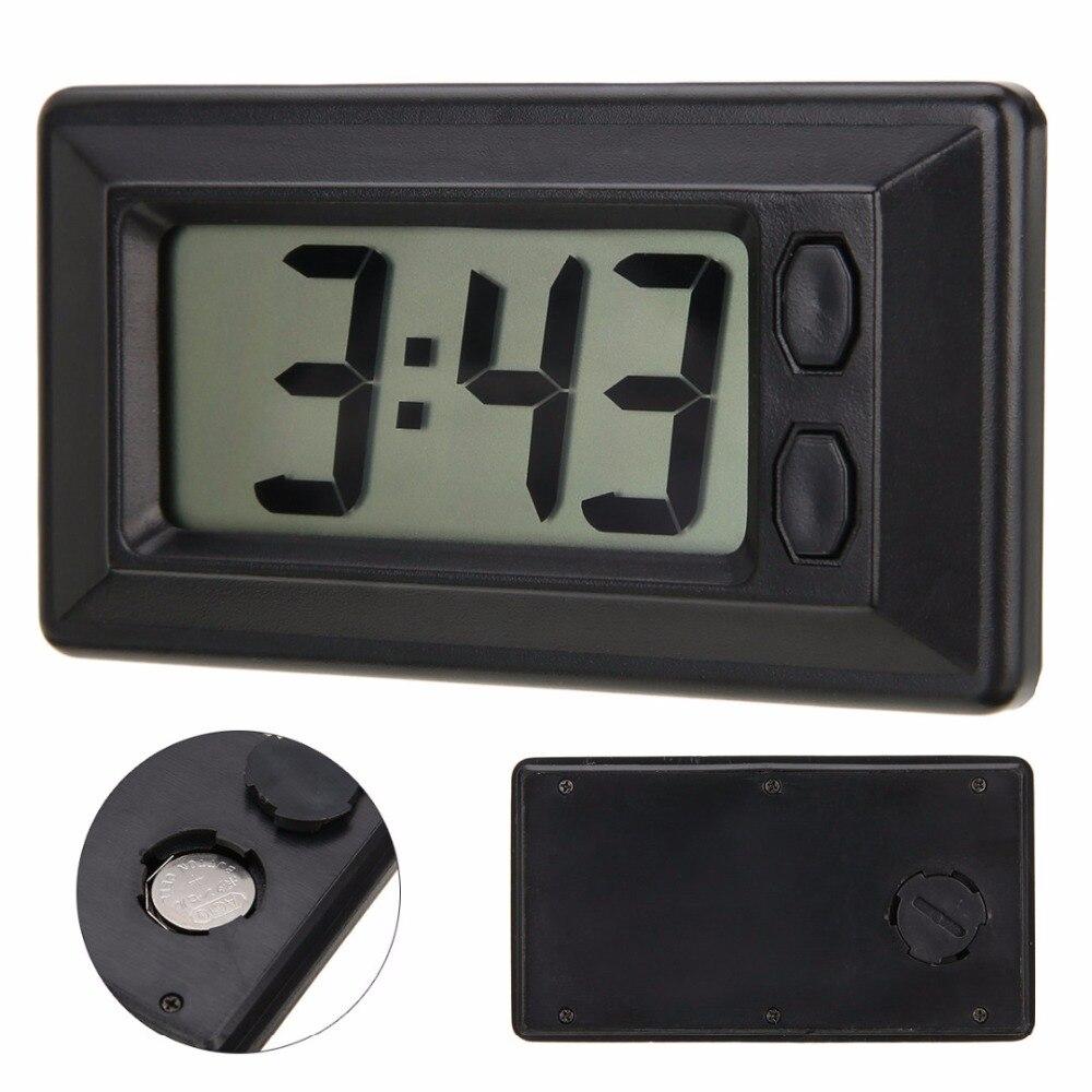 LCD Digital Clock Car Dashboard Clock De
