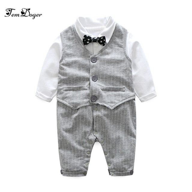 0c190e094605 2017 Autumn Fashion Baby boy clothes sets newborn Gentleman Cotton ...