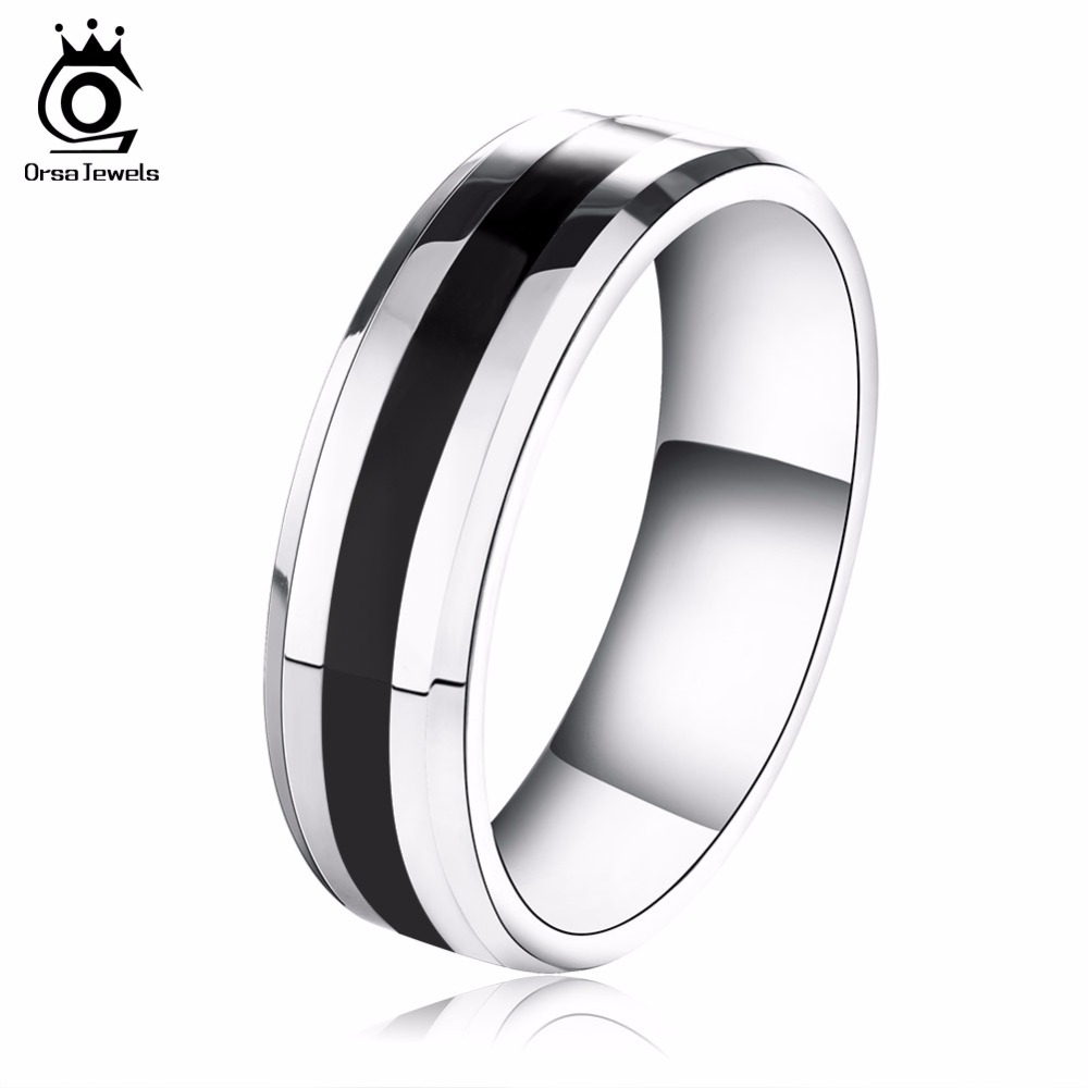 ORSA JEWELS New Arrival Stainless Steel Couple Rings