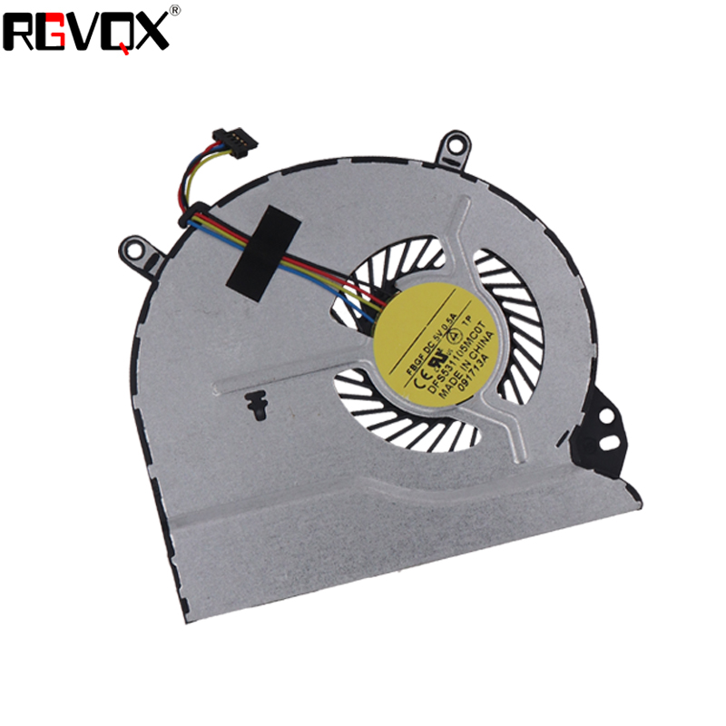 Купить с кэшбэком NEW Laptop Cooling Fan For HP Pavilion Sleekbook 14-B 15-B 14-1000 15-1000 PN:AB09005HX070B00 DFS531105MC0T CPU Cooler/Radiator
