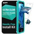 Protetor de tela para iphone 5s, esr força triplo temperado vidro protetor de tela com o aplicador para o iphone se/5s/5