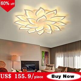 White & coffee frame anéis modernas luzes