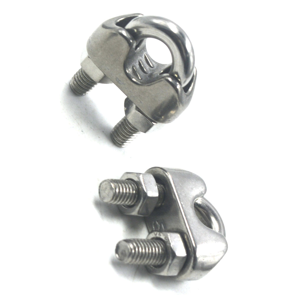 10PCS 304 Stainless Steel Cable Wire Rope Clamp Clip Fit 2 24mm ...