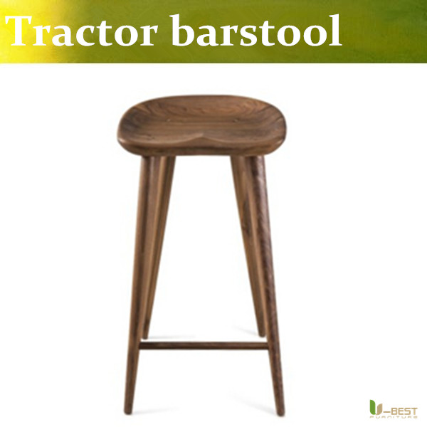 Free shipping U BEST Solid wood barstool Tractor Stool by Craig BassamRetro fashion style bar stool bar chair tall stool