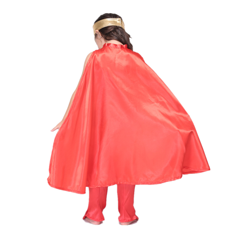 6pc child wonder woman costume halloween kids superhero costume with