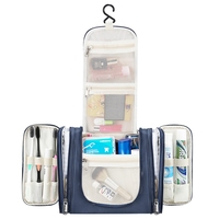Fashion Beauty Women Waterproof Polyester Cosmetic Case Organizer Storage Hanging Travel Toiletry Bags Pouch Wash Bag