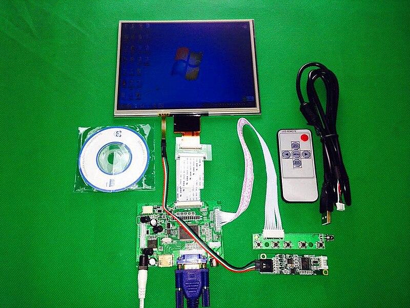 8 inch HDMI VGA AV Control Driver Board Touchscreen for HJ080IA 01E 1024 768 IPS high