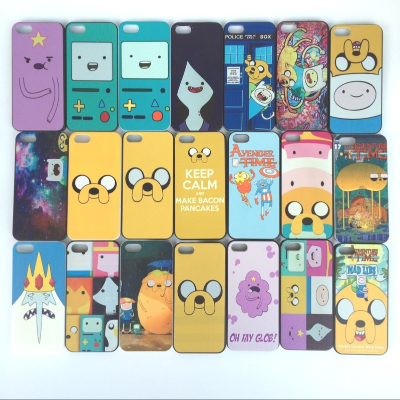 Free shipping Adventure Time Beemo BMO Jake, Finn, Lumpy hard plastic case cover for iPhone 4s 4 5 5s SE