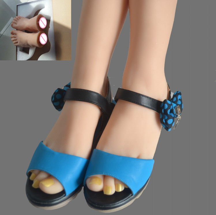 Real skin sex dolls whith vaginal masturbation full silicone life size fake feet model foot fetish toy sexy toys top quality new sex product soft feet fetish toys for man lifelike female feet mannequin fake feet model for sock show
