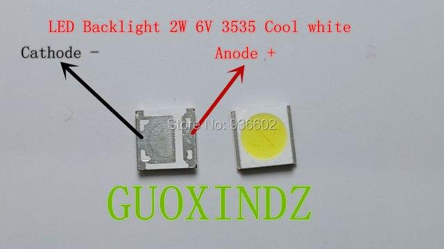 WOOREE  LED Backlight    High Power LED  2W  6V  3535  150LM Cool white  WM35E2F YR09B eA  LCD Backlight for TV   TV Application