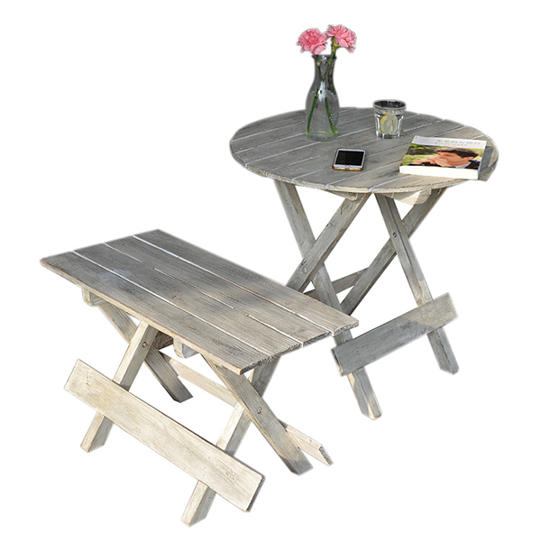 Portable Outdoor Folding Side Table and Chair Perfect For The Beach, Camping, Picnics, Cookouts Outdoor Furniture Garden Set