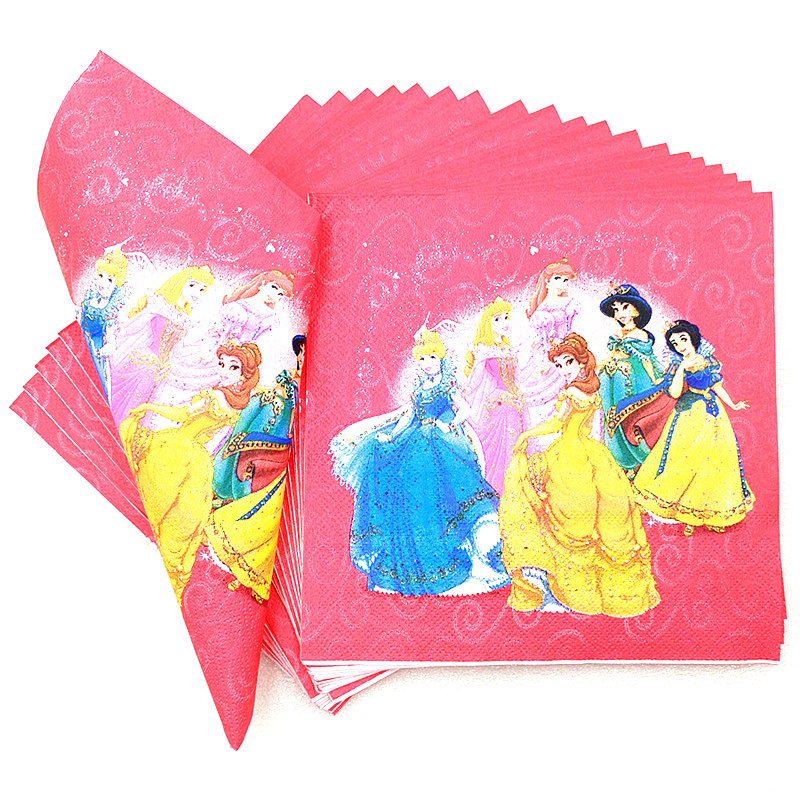 Disney Six Princess Theme Design 128Pcs/Lot Cinderella Pink Cups+Plates Birthday Party Decoration Paper Tableware Sets Supply-in Disposable Party Tableware ...  sc 1 st  AliExpress.com & Disney Six Princess Theme Design 128Pcs/Lot Cinderella Pink Cups+ ...