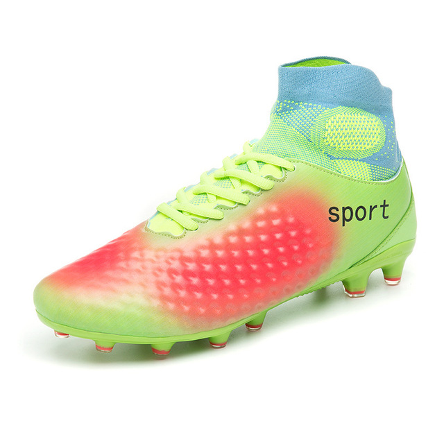 Rolibba futbol kramponları Erkekler Yüksek Ayak Bileği Superfly Futbol Ayakkabıları FG Profesyonel Açık erkek Ve Çocuklar Eğitim Çorap Cleats