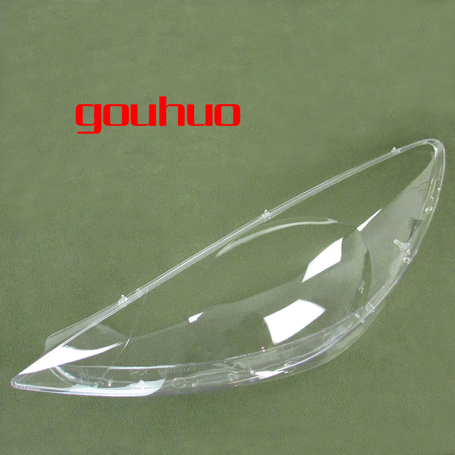 for Peugeot 307 08 13 transparent lampshade lamp shade front Headlight shell lampshade cover 2pcs