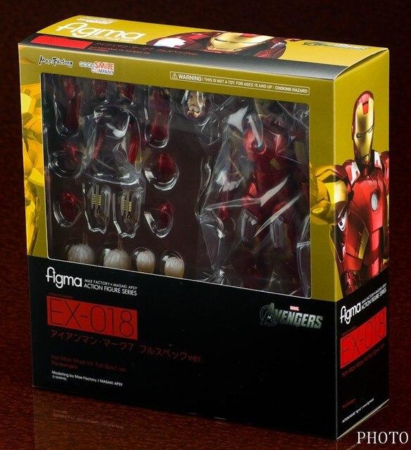 Figma MAX EX-EX-026 018 O Vingador Ironman 15 cm Marvel Homem De Ferro Action Figure Modelo Brinquedos