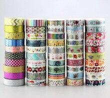 חדש 50pcs Kawaii צבעוני 596 דפוסים יפני Washi קלטת נייר, DIY מיסוך קלטת עבור רעיונות, 15mm * 10 m, חמוד מכתבים