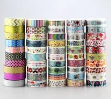 Neue 50 stücke Kawaii Bunte 596 Muster Japanischen Washi Band Papier, DIY Masking Tape für Scrapbooking, 15mm * 10 m, Nette Schreibwaren