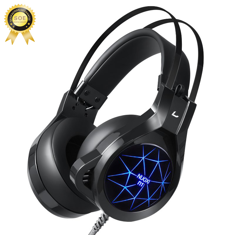 Gaming Headset Computer Game Headphones Luminous Noise Cancelling Big Earphone With Mic For Pc Games Hifi Casque Gamer Headset 3 scomas stereo gaming headset with over ear headphones glowing noise cancelling video game headphone with mic for pc casque gamer