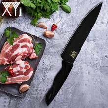 XYj Cleaver Kitchen Knife Japanese Steel Blade Chef Knives Santoku Fruit Vegetable Slicer Cutter with Cover For Household Cook(China)