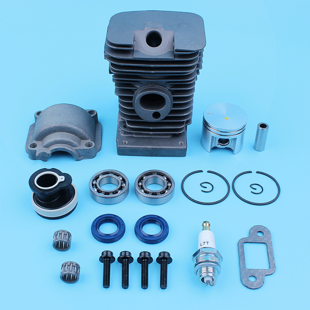 Nikasil Plated 38mm Cylinder Piston Engine Pan Candle Kit For Stihl 018 MS180 MS 180 Chainsaw Crankshaft Bearing Oil Seal apdty 375116 engine oil pan