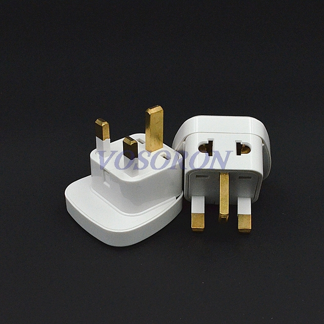 10pcs/lot 1to2 US/AU/EU to UK Plug Adapter Converter Singapore ...