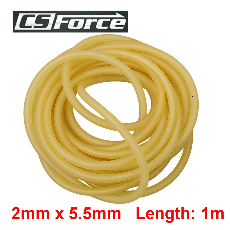 CS Force 2mm X 5.5mm Latex Slingshots Rubber Tube 1m Band For Slingshot Catapult Hunting Yoga Fitness Sport Accessory 2055