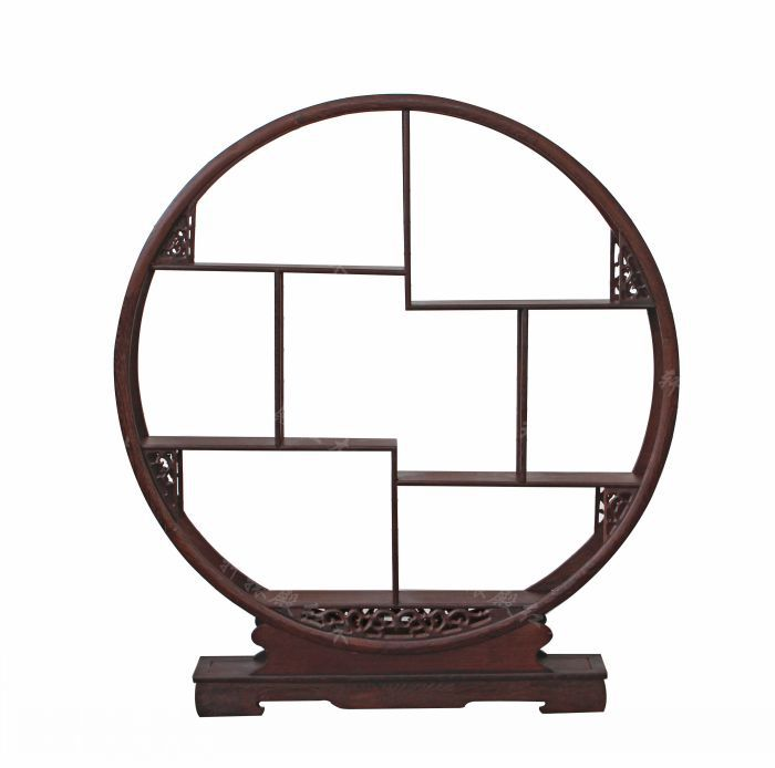 [Regulus] red temple carved wooden furniture Dubbo Gerber ancient frame / wenge 80 round assorted rack / tea makers base