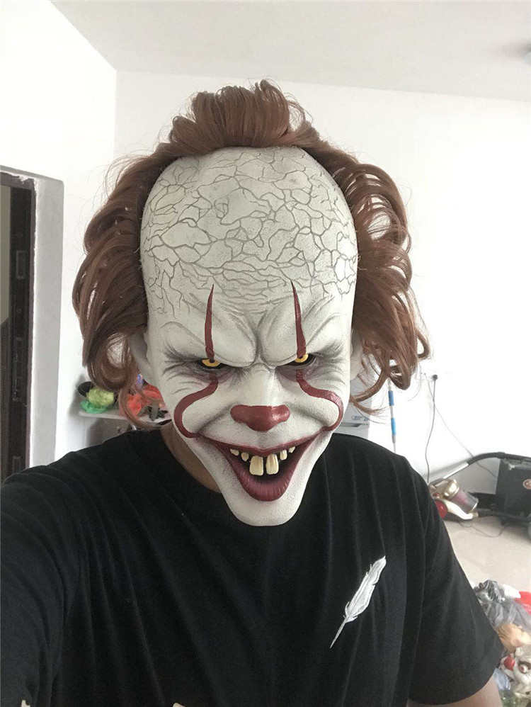 Us 12 72 50 Off Stephen King S It Mask Pennywise Horror Clown Joker Mask Clown Mask Halloween Cosplay Costume Props In Party Masks From Home