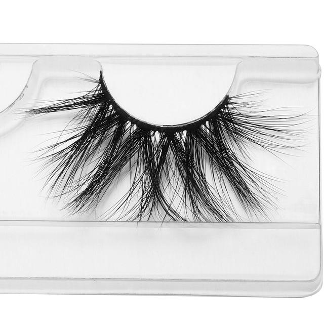 3D 25mm Mink Hair False Eyelashes Natural Long Wispies Lashes Handmade Criss-cross Eyelash Extension Makeup Tools in Bulk 5