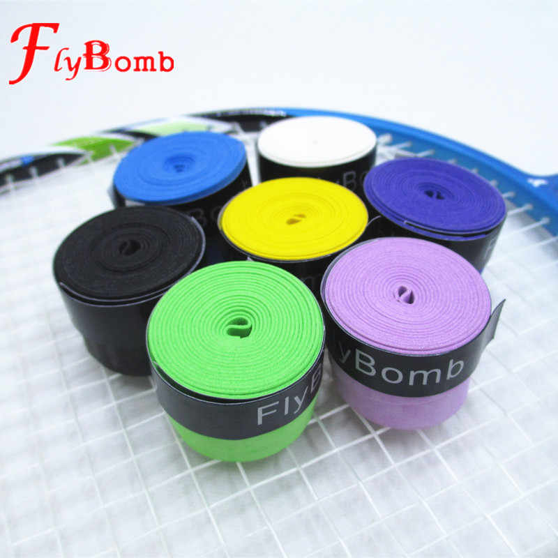 FlyBomb Dry Badminton Racket OverGrips Anti-skid Sweat Absorbed Wraps Taps Tennis Grips Racquet Overgrip Sweatband L415OLF