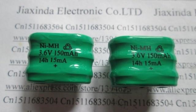 HOT NEW  3.6V150mAh 3.6v 150mah NI-MH 3/V150H pin3 Button rechargeable battery with DIP3 leg