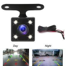 Вид сзади автомобиля Камара для видеорегистратор зеркало рекордеры 4 светодио дный задние фонари Камера Ночное Видение заднего Cam HD НПК объектив 2,5 мм Jack