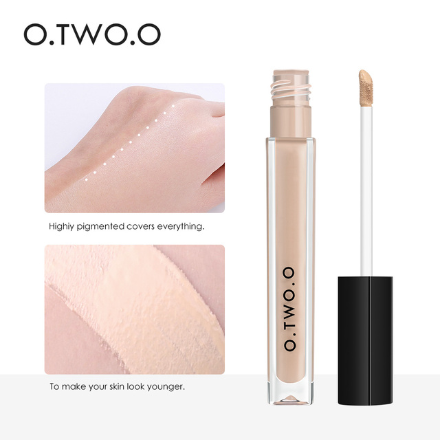 O.TWO.O Makeup Concealer Liquid Convenient Full Coverage Eye Dark Circles Blemish 4 Colors New Dark Skin Face Contour Cosmetics 2