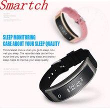 Smartch Новинка 2017 года модель Смарт-фитнес браслет часы браслет miband OLED Touchpad сна Мониторы сердечного ритма I8 Smart Band I8