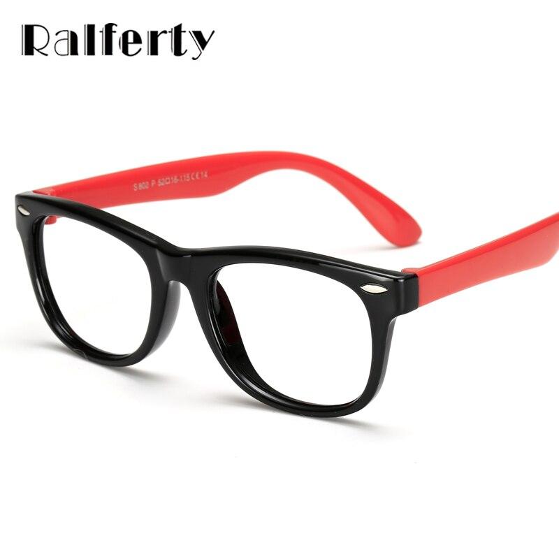 f9ae350b0f79 Ralferty Infant Baby Kids TR90 Eyewear Frames Child Safety Eye Glasses With  Clear Lens